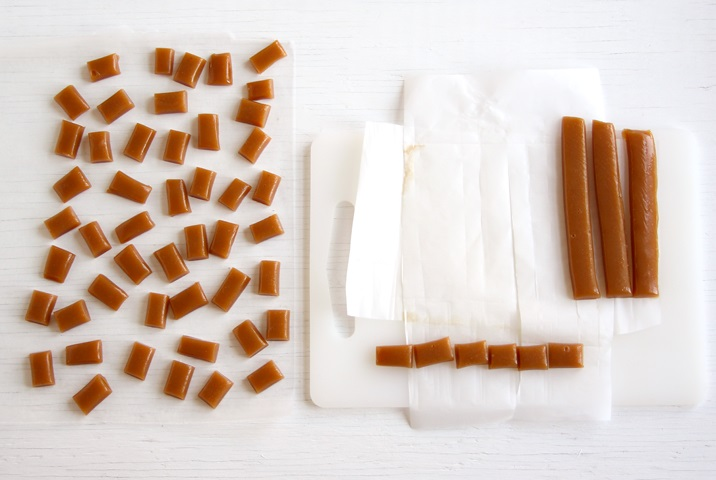 Apple Cider Caramels Cutting