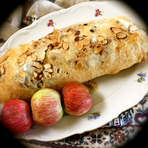 Apple strudel made by a user, followed a recipe of Little Vienna