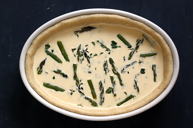 Simple Asparagus Quiche Filling