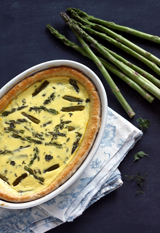 Simple Asparagus Quiche