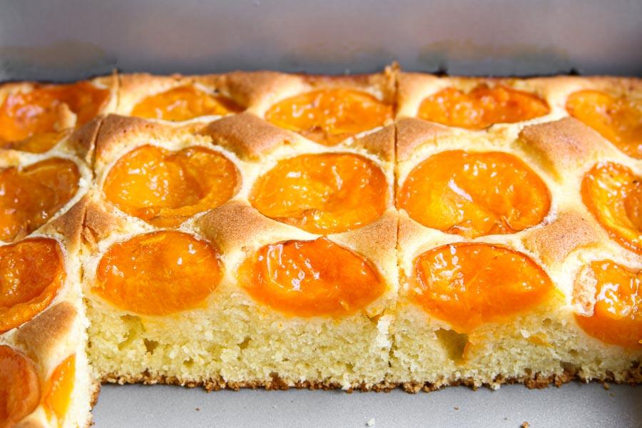 Austrian apricot sheet cake recipe