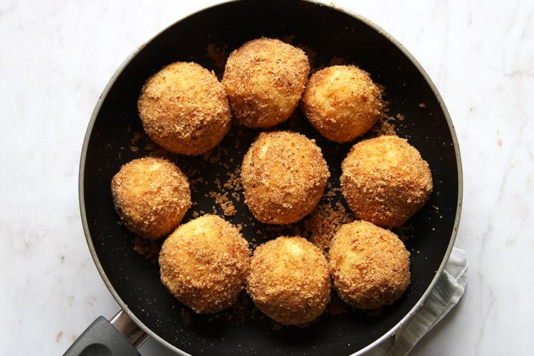 Austrian plum dumplings