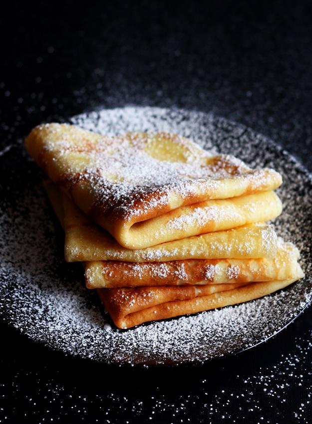 Austrian style crepes Palatschinken recipe