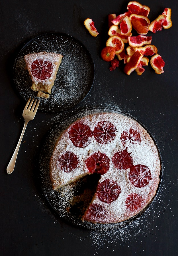 Blood Orange Almond Cake - Recipe
