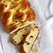 Sweet Braided Yeast Bread (Rosinenzopf)