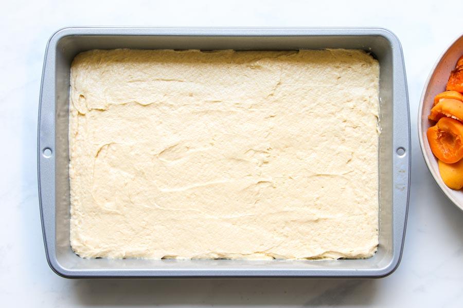 Cake batter for apricot sheet cake recipe