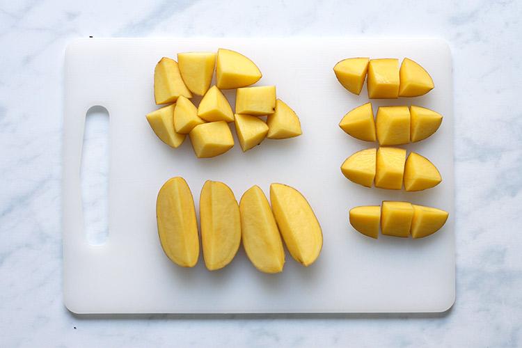 Cutting Potatoes for Roasting