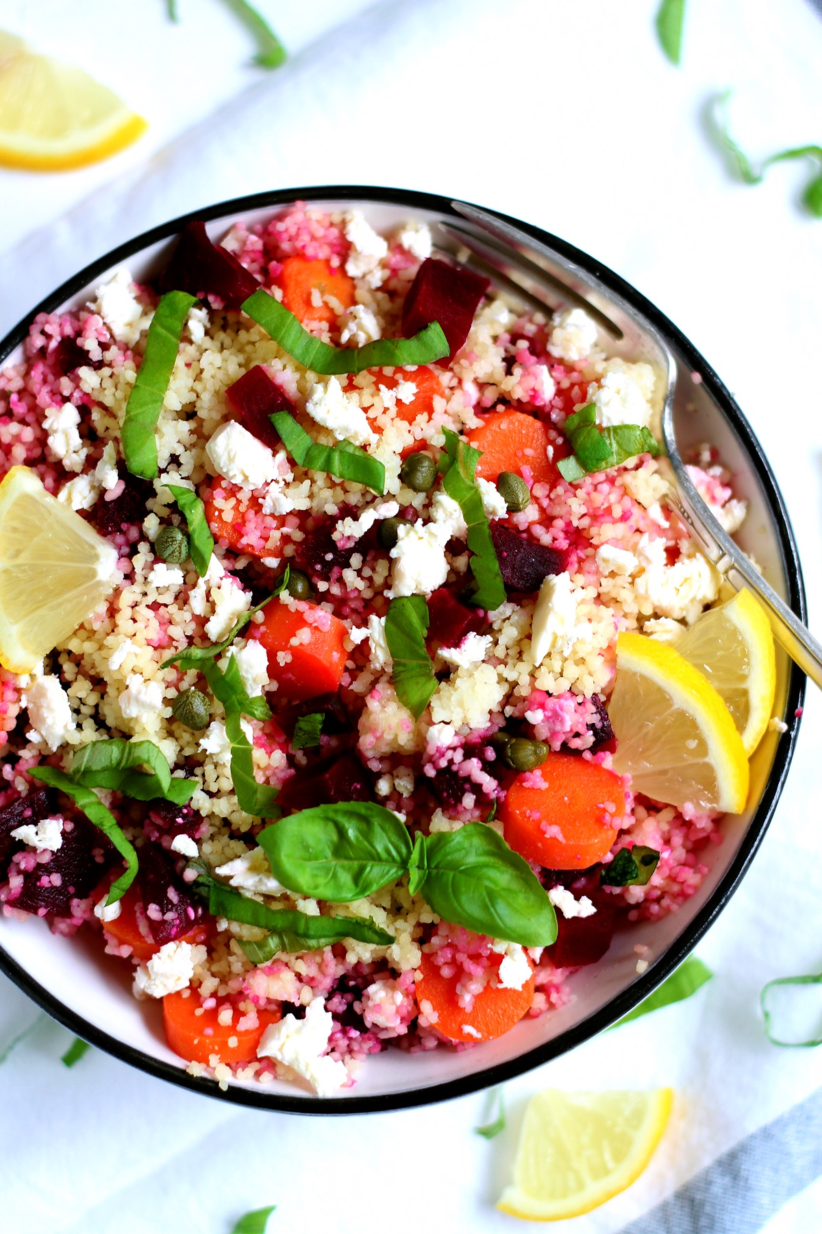 Easy couscous salad with carrots and beets recipe
