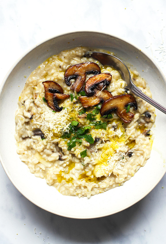 Easy mushroom brie risotto recipe