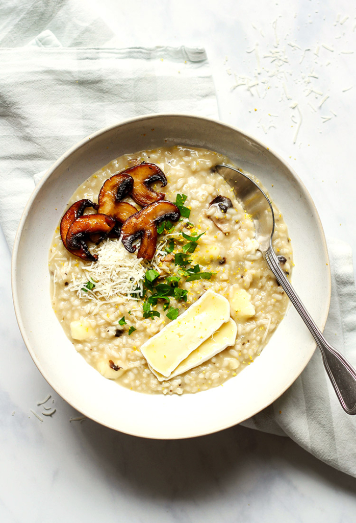 Easy mushroom risotto recipe without alcohol