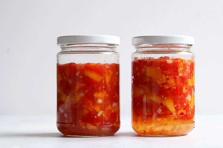 Fermented tomato peach salsa easy recipe