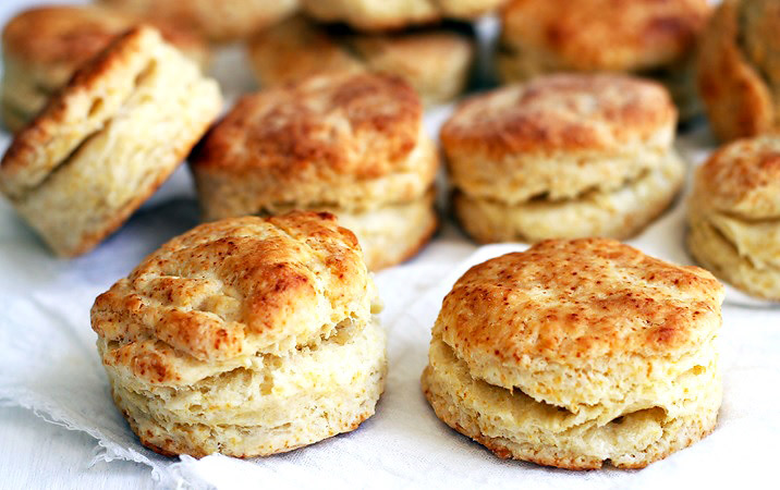 Flaky Biscuits for strawberry shortcake