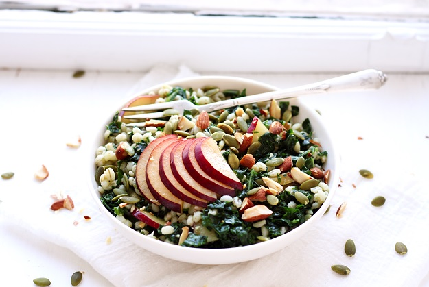 Grain Salad with Kale and Plums recipe