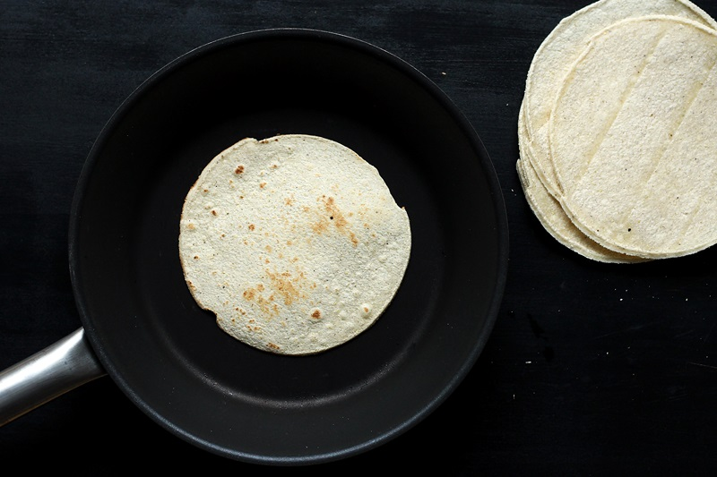 Heating Corn Tortillas