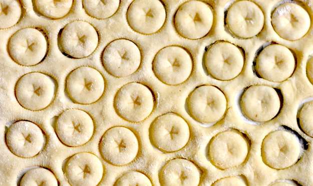 Homemade Oyster Crackers recipe with star imprint