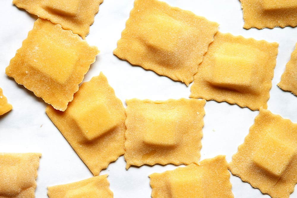 Homemade cheese Ravioli for toasted ravioli