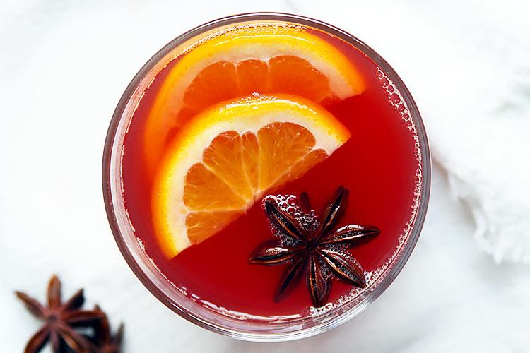 Hot Tea Punch with orange Recipe Vienna