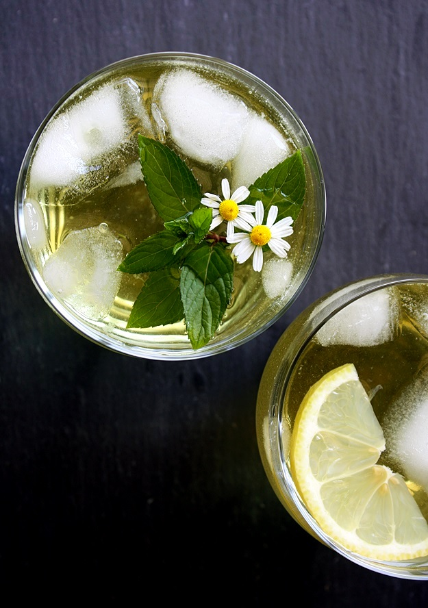 Iced Tea From Fresh Herbs