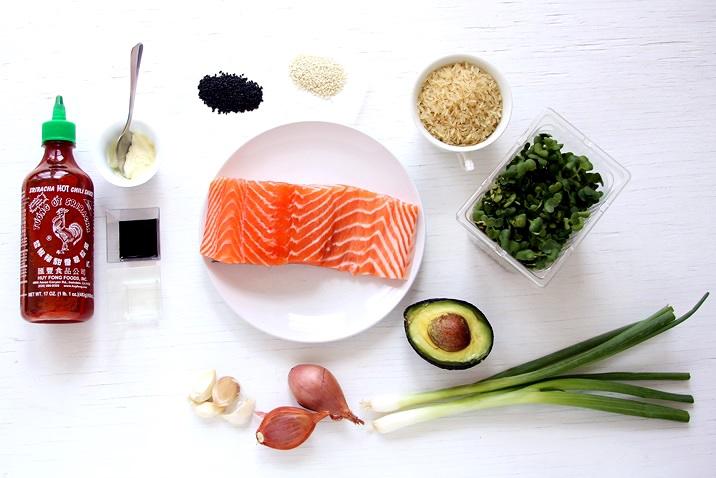 Ingredients for Hawaiian Salmon Poke