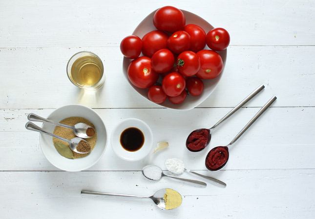 Ingredients for Homemade Ketchup