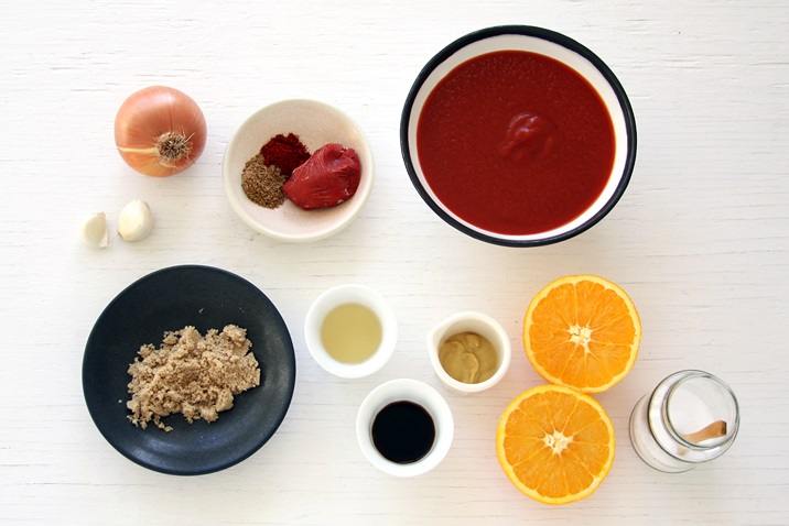 Ingredients for quick and easy BBQ sauce