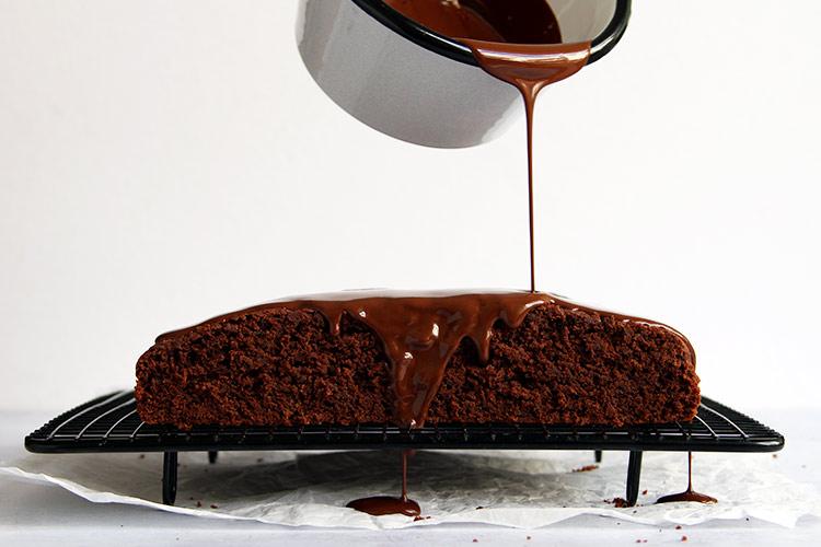 Moist and quick chocolate zucchini sheet cake recipe