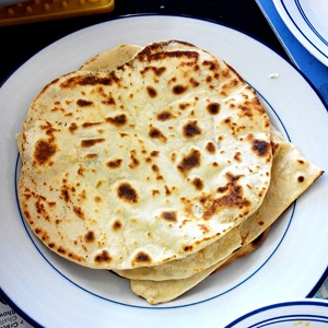 Naan cooked by user