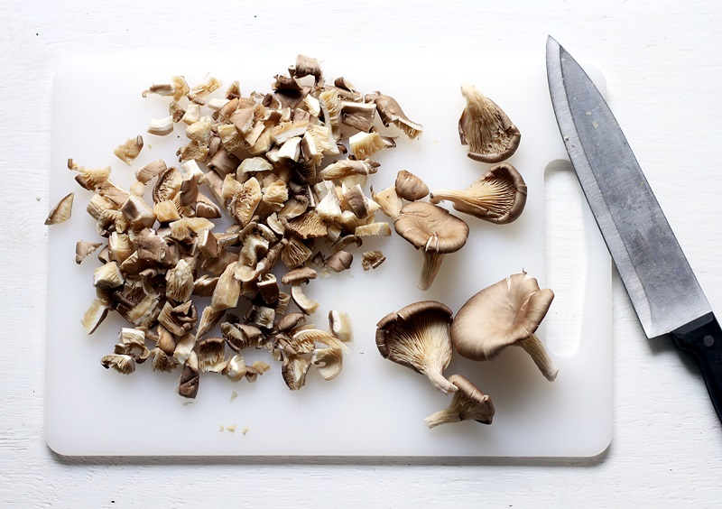 Oyster Mushrooms for Clam Chowder