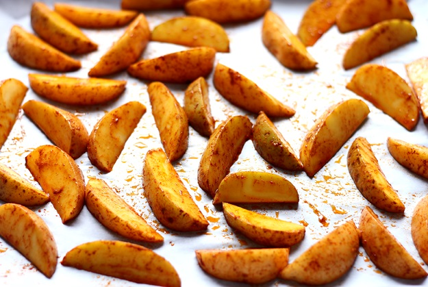 Perfect crispy potato wedges recipe