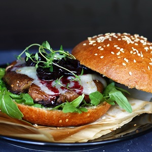 Recipe for Portobello Burger on Homemade Brioche Buns