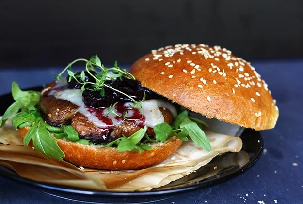 Recipe for Portobello Burger on Homemade Brioche Buns