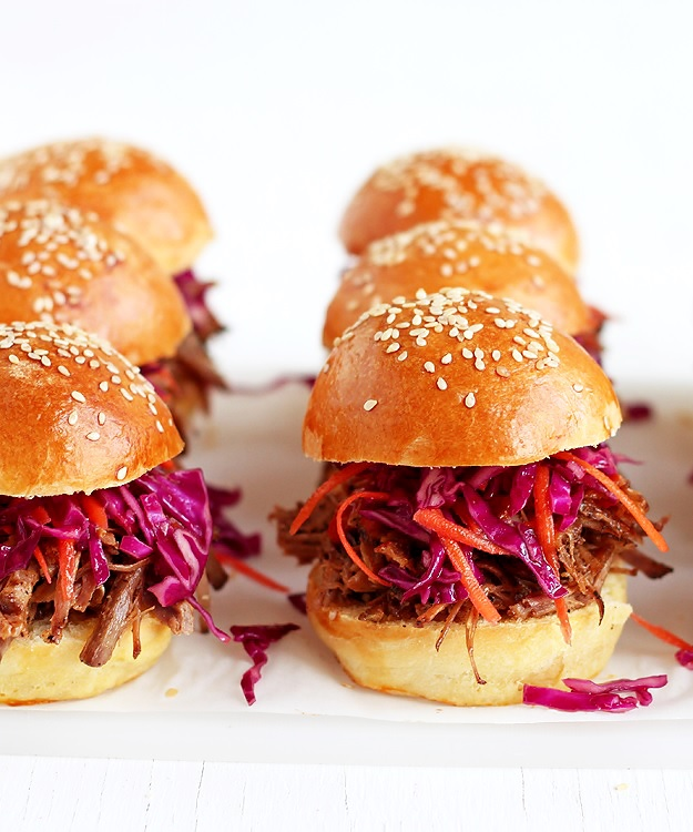 Pulled Pork Sliders with homemade brioche buns recipe