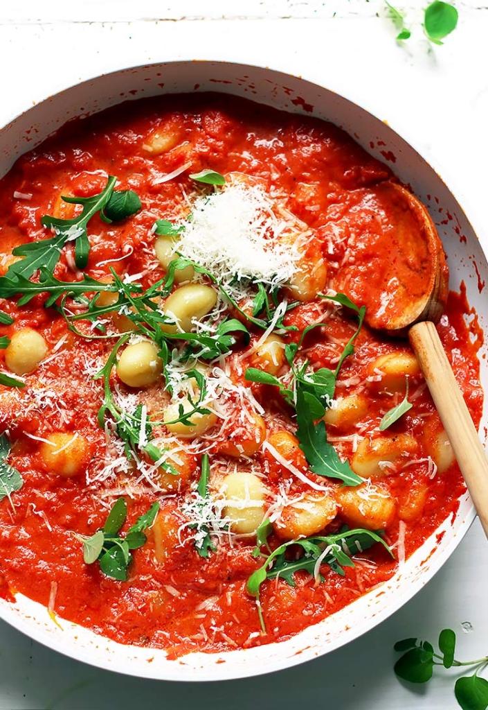 Quick Gnocchi with Tomato Sauce Recipe