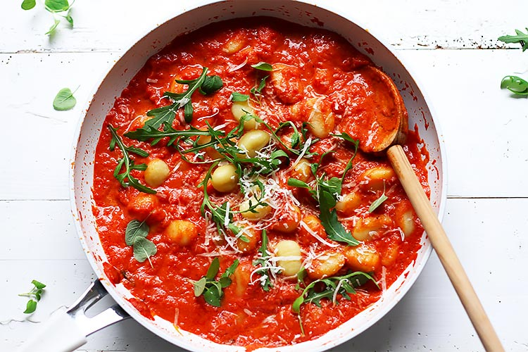 Quick Gnocchi with Tomato Sauce easy Recipe