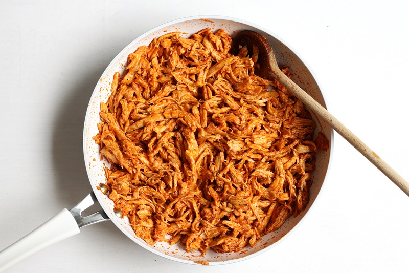 Quick Pulled Buffalo Chicken recipe