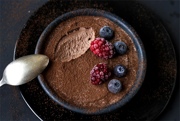 Quick and Easy Chocolate Mousse no eggs