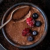 Genius Two Ingredient Chocolate Mousse (egg-free)