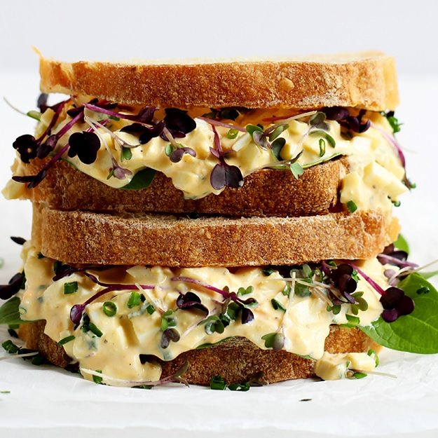 The Best Egg Salad Sandwich No Mayo