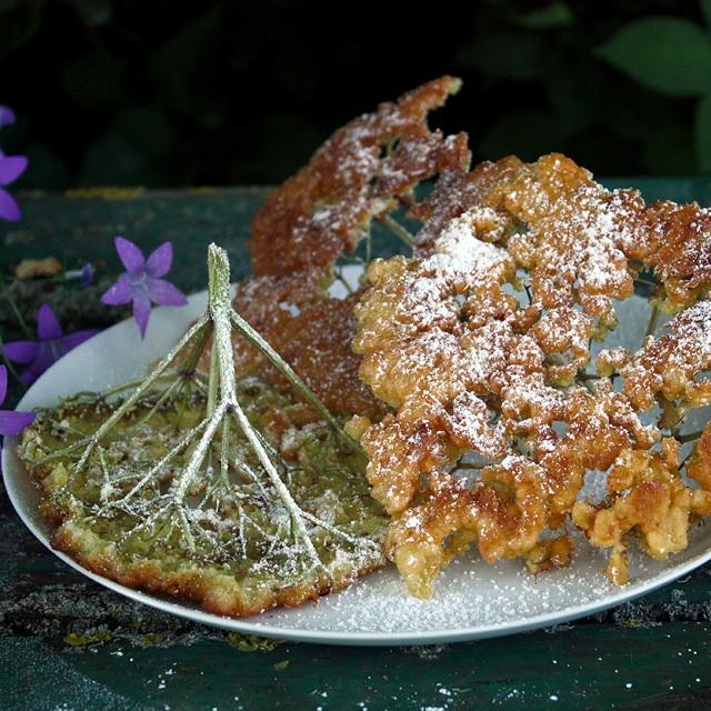 Elderflower fritters – Gebackene Holunderblüten