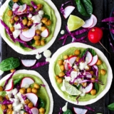 Recipe Green Spring Tacos with Spinach and Curried Chickpeas
