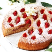 Linzer Torte with Strawberries