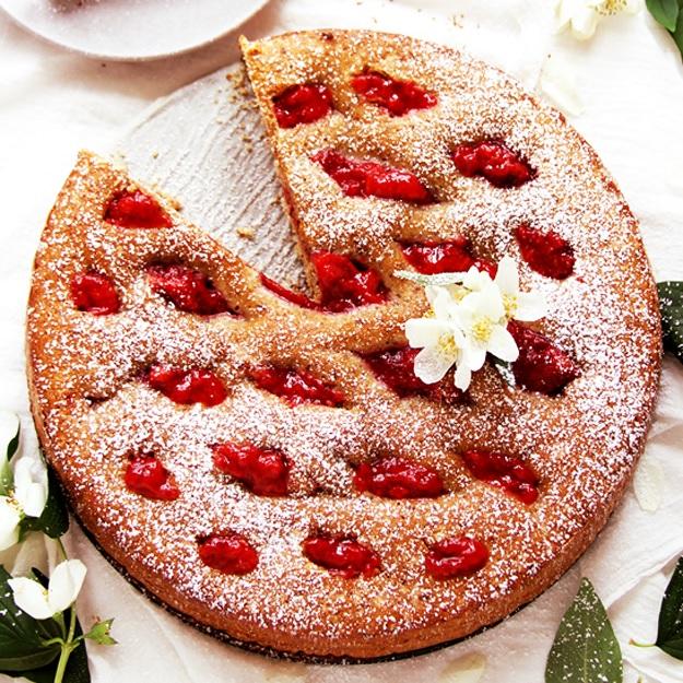Linzer Torte with Strawberries