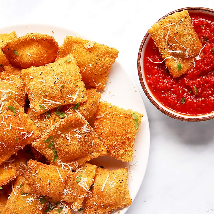 Toasted Ravioli from Scratch – Baked or Fried