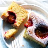 Recipe for Easy low-sugar Plum Cake from Austria