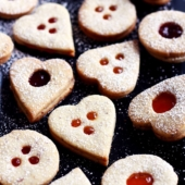 Traditional Linzer Cookies & News