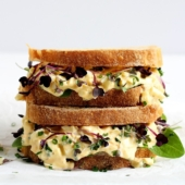 The Best Egg Salad Sandwich, no Mayo