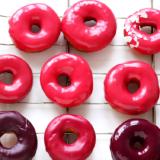 Recipe pink doughnuts