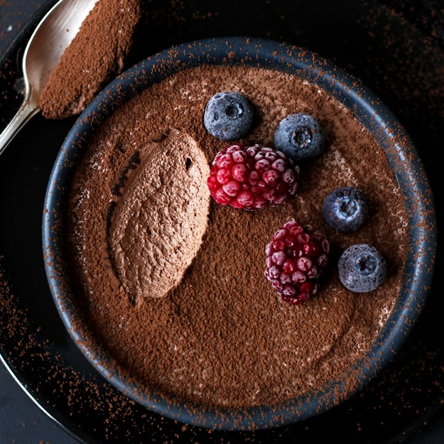 Genius Two Ingredient Chocolate Mousse (egg-free)