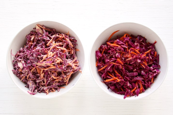 Red Cabbage Slaw dressing Recipe Pulled pork sliders