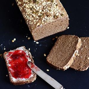 Li'l Vienna rye sourdough bread (no-knead)